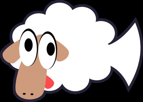 White-Stupid-Cute-Cartoon-Fish-Sheep